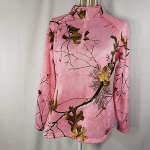 Realtree Pink 1/4 Zip Up Jacket Size Medium